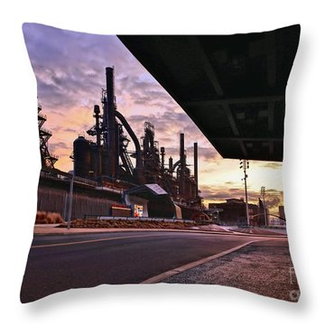Throw Pillow featuring the photograph Waitin' On The Bus by DJ Florek