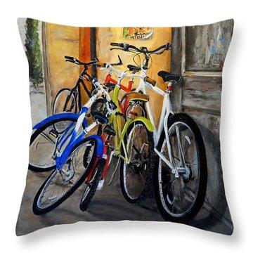 Waiting Throw Pillow by Alan Lakin