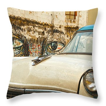 Waiting And Watching Throw Pillow by Jess Kraft