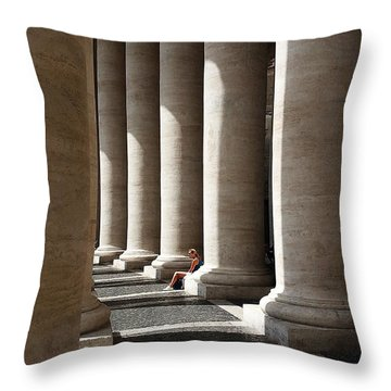 Throw Pillow featuring the digital art Waiting At St Peter's by Julian Perry