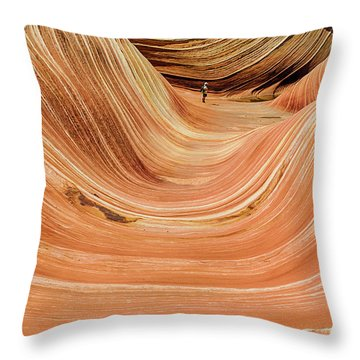 Waiting At The Wave Throw Pillow