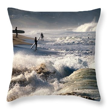Waiting By Mike-hope Throw Pillow