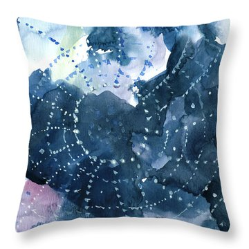 Waiting For A Catch Throw Pillow