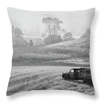 Waiting For A Load Throw Pillow