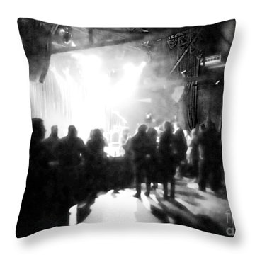 Waiting For A Show Throw Pillow