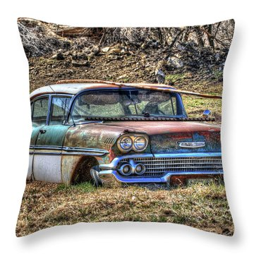 Waiting For A Tow Throw Pillow