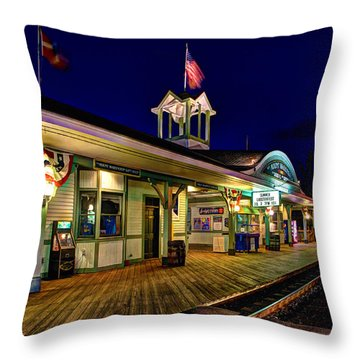 Waiting For A Train 023 Throw Pillow