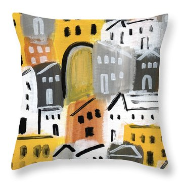Waiting For Autumn- Expressionist Art Throw Pillow