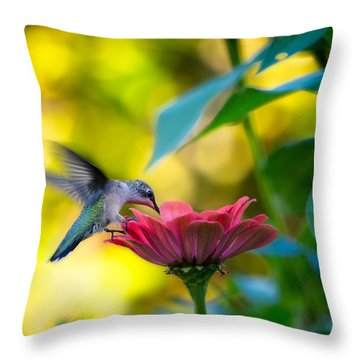 Waiting For Butterflies Throw Pillow by Craig Szymanski