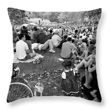 Waiting For Dali Lama Central Park Throw Pillow