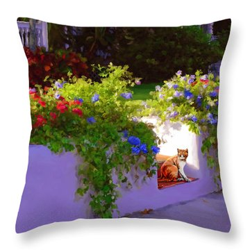 Waiting For Friends Throw Pillow