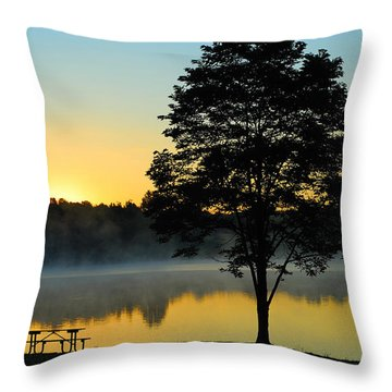 Waiting For Guests To Arrive Throw Pillow
