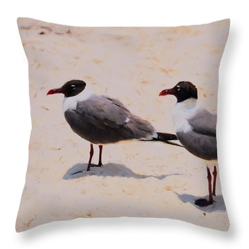 Throw Pillow featuring the photograph Waiting For Handouts by Jan Amiss Photography