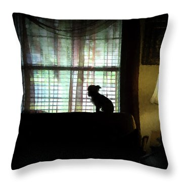 Waiting For Mama Throw Pillow by Travis Burgess