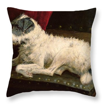 Waiting For Master Throw Pillow by George Paice