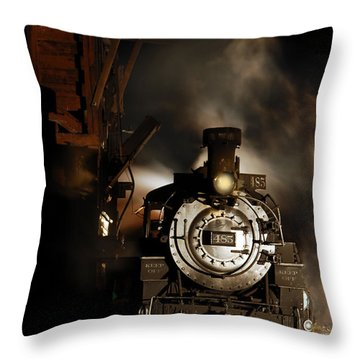 Waiting For More Coal Throw Pillow