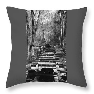 Waiting For Orders Throw Pillow