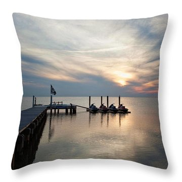 Waiting For Riders Throw Pillow