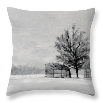 Waiting For Spring Throw Pillow by Peter Salwen