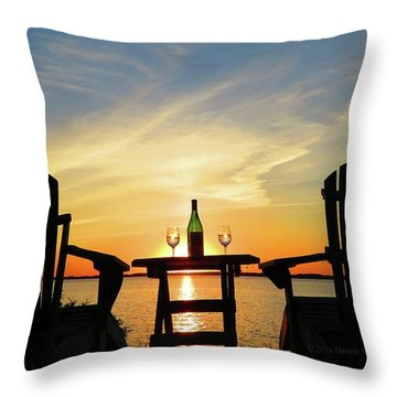 Waiting For Summer Throw Pillow