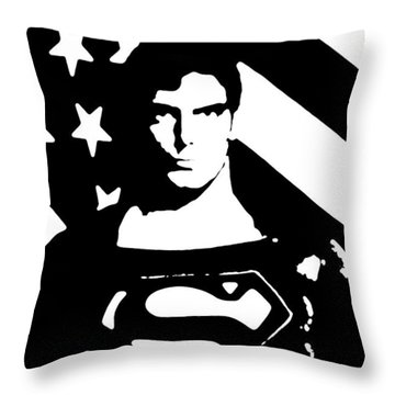 Waiting For Superman Throw Pillow by Saad Hasnain