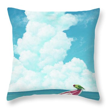 Waiting For Surf Throw Pillow