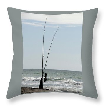Waiting For The Bait Throw Pillow