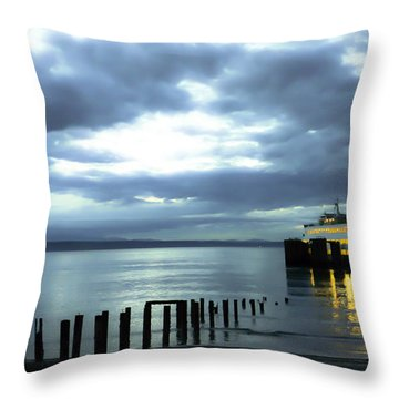 Waiting For The Ferry Throw Pillow