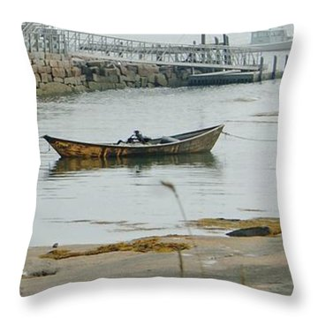 Waiting For The Fog To Lift Throw Pillow