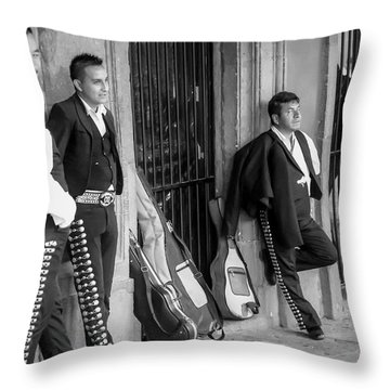 Waiting For The Gig Throw Pillow