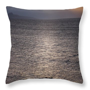 Waiting For The Last Wave Of The Day Throw Pillow