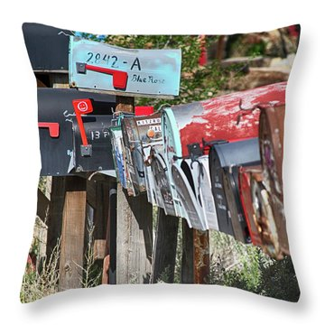 Throw Pillow featuring the photograph Waiting For The Mail by Marie Leslie