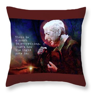 Waiting For The Miracle To Come Throw Pillow