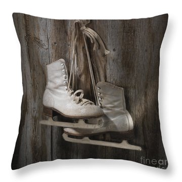 Waiting For The Pond To Freeze Throw Pillow by Jerry McElroy