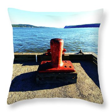 Waiting For The Ship To Come In. Throw Pillow