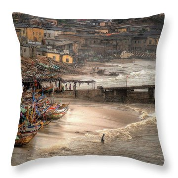 Waiting For The Stragglers Throw Pillow