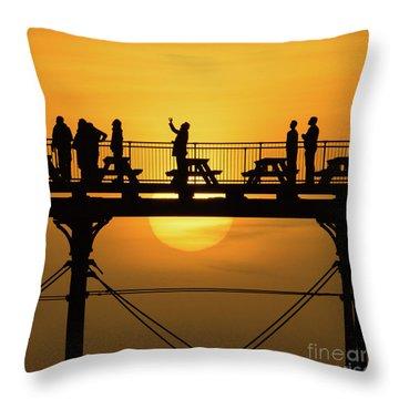 Waiting For The Sun Throw Pillow