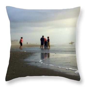 Throw Pillow featuring the photograph Waiting For The Sun by Phil Mancuso