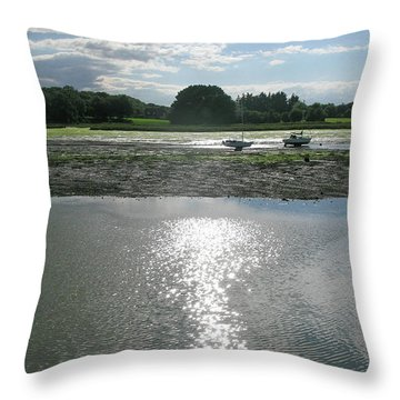 Waiting For The Tide Throw Pillow by Maria Joy