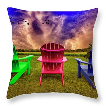 Calm Before The Storm Throw Pillow