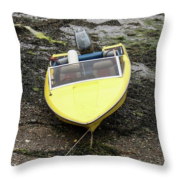 Waiting For The Water Throw Pillow