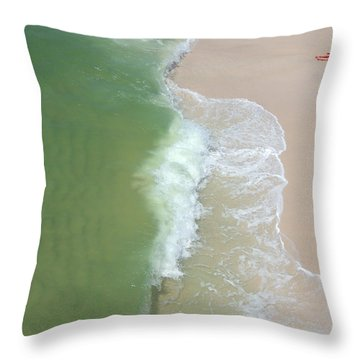 Waiting For The Wave Throw Pillow