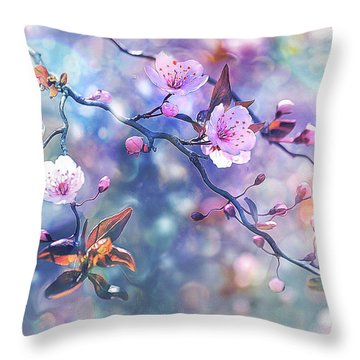 Waiting For Tomorrow Throw Pillow by Agnieszka Mlicka