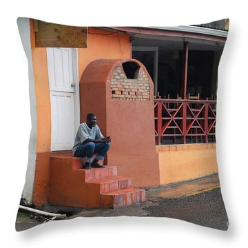 Throw Pillow featuring the photograph Waiting by Gary Wonning