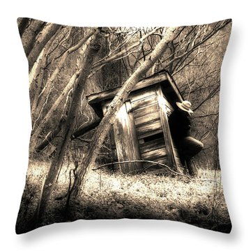 Throw Pillow featuring the photograph Waiting... by Gray  Artus