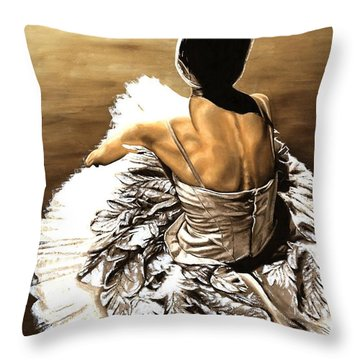 Waiting In The Wings Throw Pillow by Richard Young