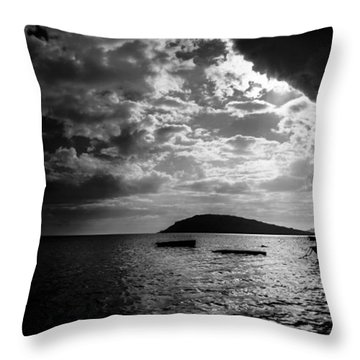 Throw Pillow featuring the photograph Waiting by Julian Cook
