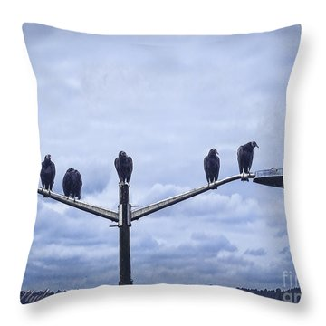 Waiting Throw Pillow by Melissa Messick