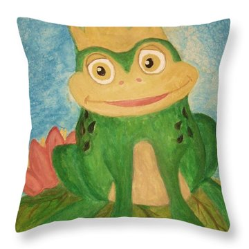 Waiting Throw Pillow by Nan Hand