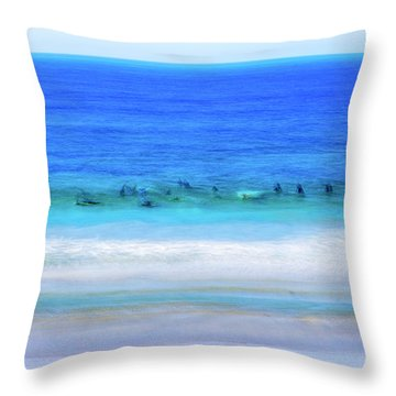 Waiting On A Wave Throw Pillow